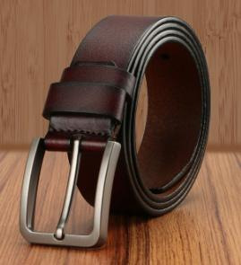 male genuine leather strap High Quality Luxury Brand Big Buckle Belts Men Genuine Leather