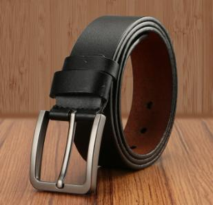 Genuine Leather Strap High Quality Luxury Big Buckle Belts for Men - SolaceConnect.com