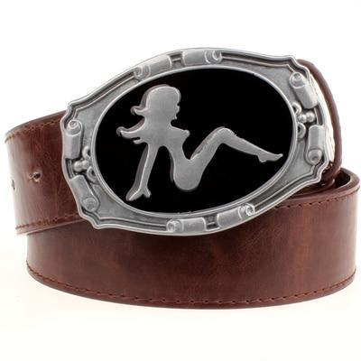 Fashion belt Metal buckle Retro sexy women pattern belts girl cowboy style women men jeans belt - SolaceConnect.com
