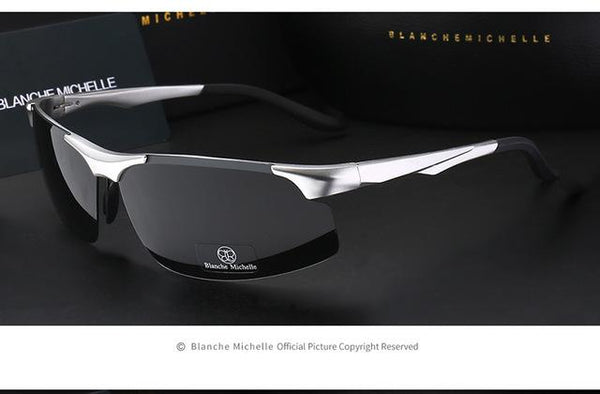 Aluminum Magnesium Polarized Night Vision Goggles Sunglasses for Men - SolaceConnect.com