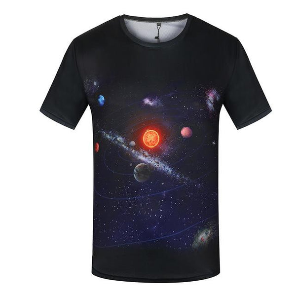 Funny 3D World Map Anime Short Sleeve Summer T-Shirts for Men - SolaceConnect.com