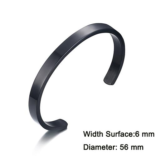 Simple and Elegant 8mm Wide Stainless Steel Bracelet& Bangle for Men Women - SolaceConnect.com