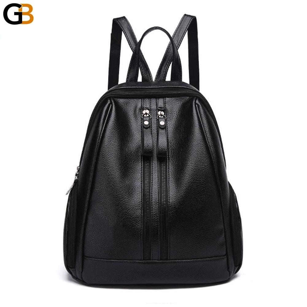 c722ef4758dc Herald fasion pu leather backpacks for adolescent girls zipper backpack  female backpack to school solaceconnect jpg