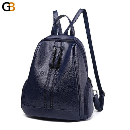 Synthetic Leather School Backpacks with Zipper for Adolescent Girls - SolaceConnect.com