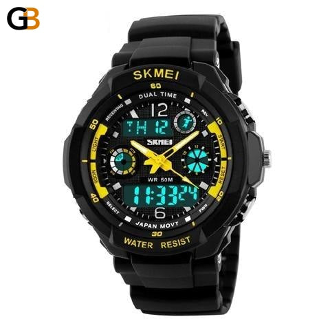 SKMEI Brand Fashion Digital Quartz Watch Men Shock-Resistant Waterproof Sports Military Watches - SolaceConnect.com