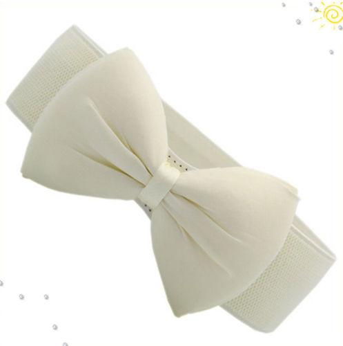 Hot Fashion Women's Bowknot Stretchable Elastic Wide Waistband - SolaceConnect.com