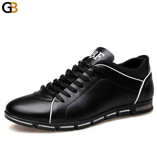 Big Size High Quality Genuine Leather Men's Breathable Casual Shoes - SolaceConnect.com