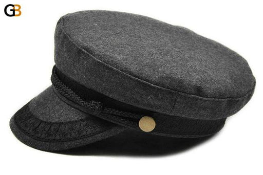 Military Winter Knitted Cap Flat Top Black Grey Casquette Unisex Hats - SolaceConnect.com