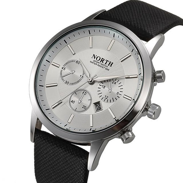 Men's Luxury Casual Military Quartz Sports Wristwatch with Leather Strap - SolaceConnect.com