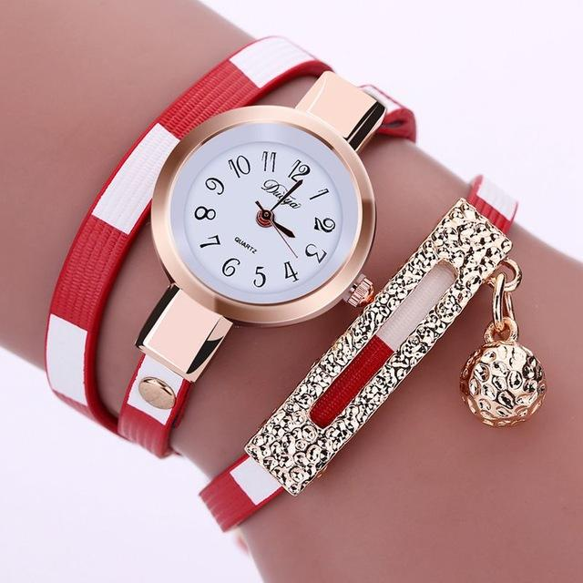 Women's Relogio Feminino Fashion Leather Pendant Bracelet Watches - SolaceConnect.com