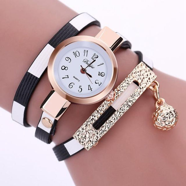 Women's Watches Fashion Leather Pendant Bracelet Ladies Watch Women Clock Relogio Feminino - SolaceConnect.com