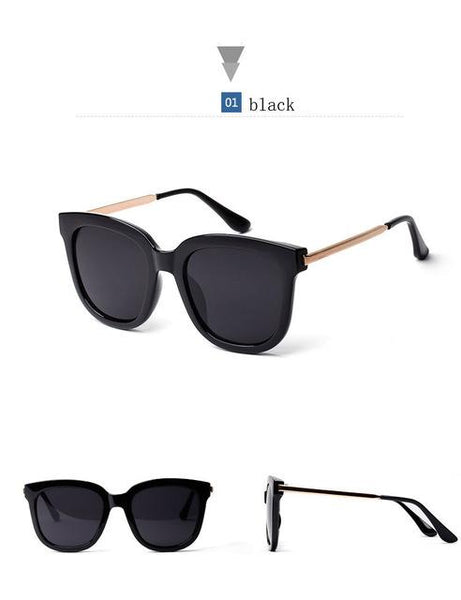 Korean Luxury Big Black Oversized Square Sunglasses for Women & Men - SolaceConnect.com