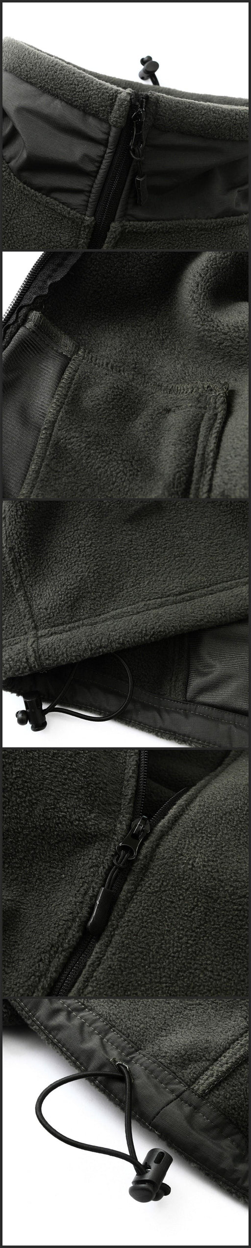 Men's Fleece Warm Military Coats Outerwear with Multi Pockets - SolaceConnect.com