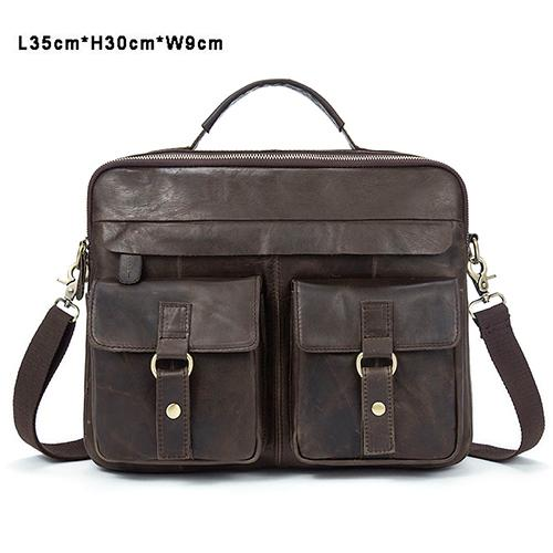 Men's Genuine Briefcase Messenger Handbags for Business Travel - SolaceConnect.com