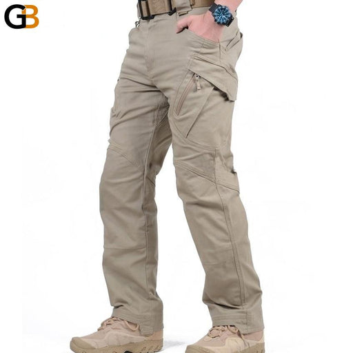 Men's Many Pockets Tactical Swat Military Cargo Stretch Cotton Pants - SolaceConnect.com