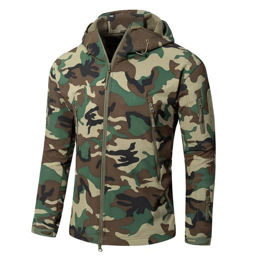 Military Style Camouflage Men's Softshell US Army Tactical Hooded Jacket - SolaceConnect.com