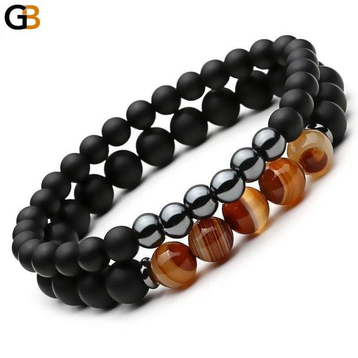Beaded Black Mantra Prayer Buddha Bracelet for Women and Men - SolaceConnect.com