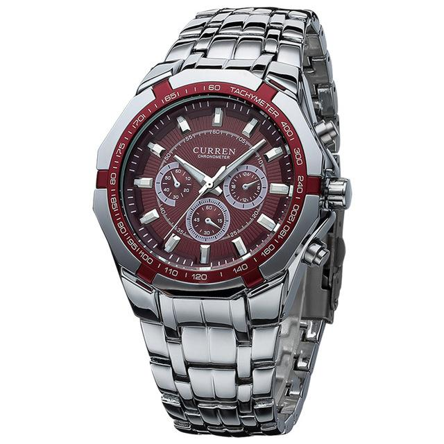Fashion Men's Full Stainless Steel Military Casual Waterproof Sports Watch - SolaceConnect.com