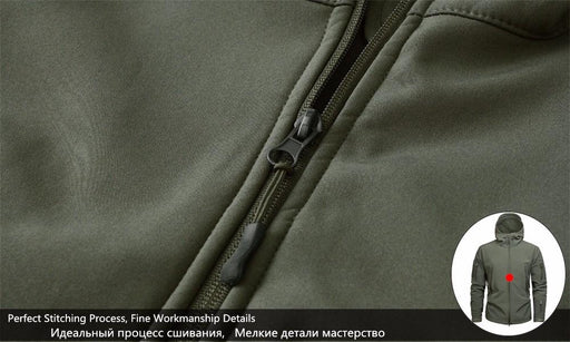 Men's Military US Army Tactical Sharkskin Softshell Autumn Winter Jacket - SolaceConnect.com