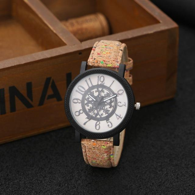 Lovers' Fashion Wood Turntable Wooden Clock Watches for Men & Women - SolaceConnect.com