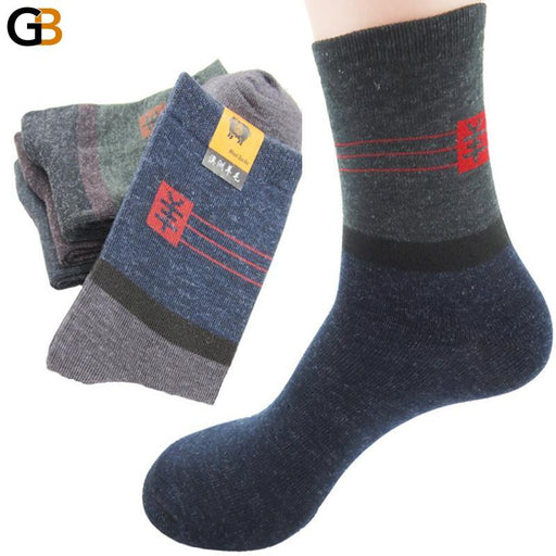 10 Pairs Men's Warm Wool Practical Durable Mature Temperament Socks - SolaceConnect.com