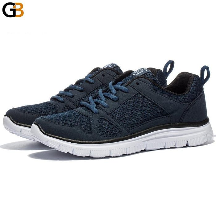 Men's Footwear Walking Black Light Breathable Mesh Casual Sneakers Shoes - SolaceConnect.com