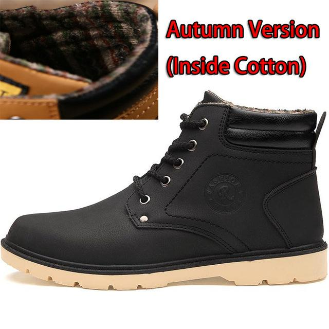 Keep Warm Men's Working Leather High Quality Casual Winter Boots - SolaceConnect.com