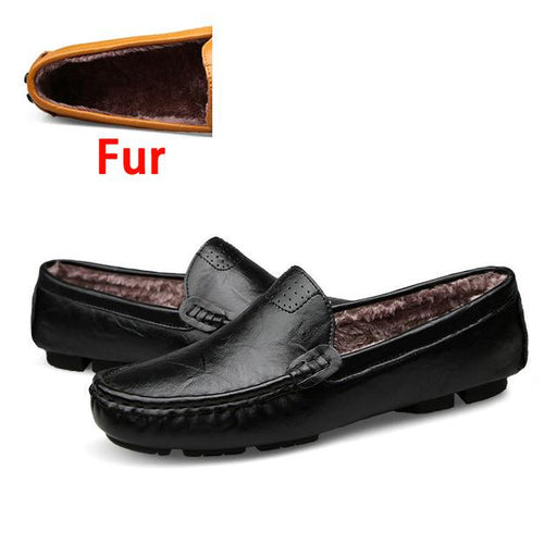 Men's Fashion Big Size 36~50 High Quality Genuine Leather Loafers Shoes - SolaceConnect.com