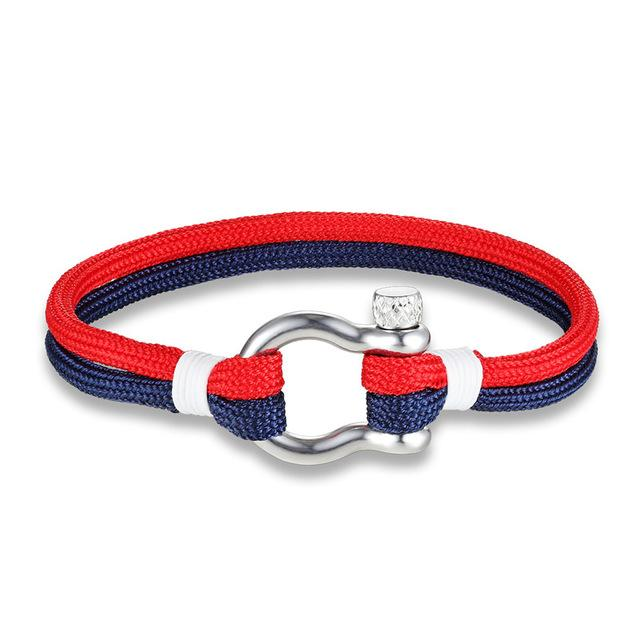 Stainless Steel Screw Anchor Shackles Surf Nautical Sailor Bracelet - SolaceConnect.com