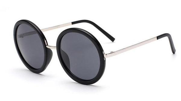 Retro Round Women's Sunglasses with Designer Vintage Frame & Coating Lens - SolaceConnect.com