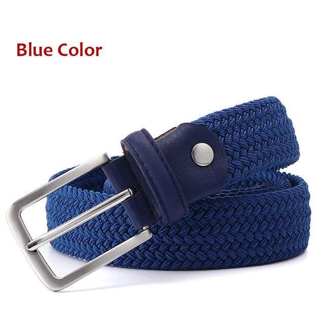 "Hot Sales Men's Woven Elastic Black Belt Strap 1-3' and '8"" or 35mm Wide - SolaceConnect.com"