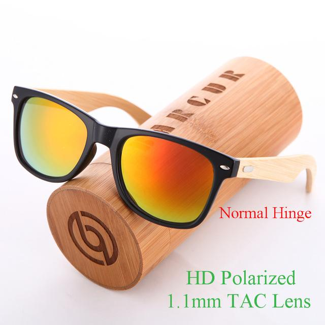 Handmade Bamboo Wooden Sunglasses with PC Frame for Men & Women - SolaceConnect.com