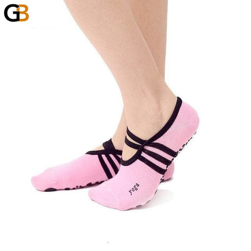 Soft Bandage Backless Women's Anti-Slip Compression Socks for Fitness Yoga - SolaceConnect.com