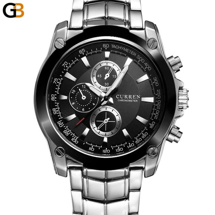 Men's Luxury Full Steel Business Casual Relogio Quartz-Watch - SolaceConnect.com