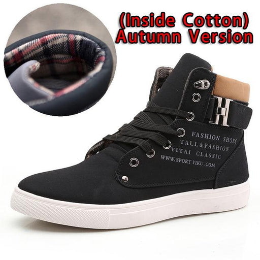 Lace-Up Casual Ankle Men's Vintage Wedge Boots for Winter and Autumn - SolaceConnect.com
