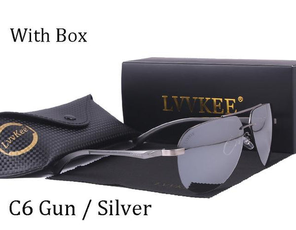 Driver Mirror Polaroid Lens Rayeds Aviator HD Polarized Unisex Sunglasses - SolaceConnect.com