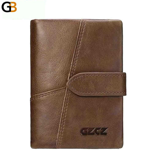 Genuine Leather Retro Men's Wallets with Hasp Design and Card Holder - SolaceConnect.com