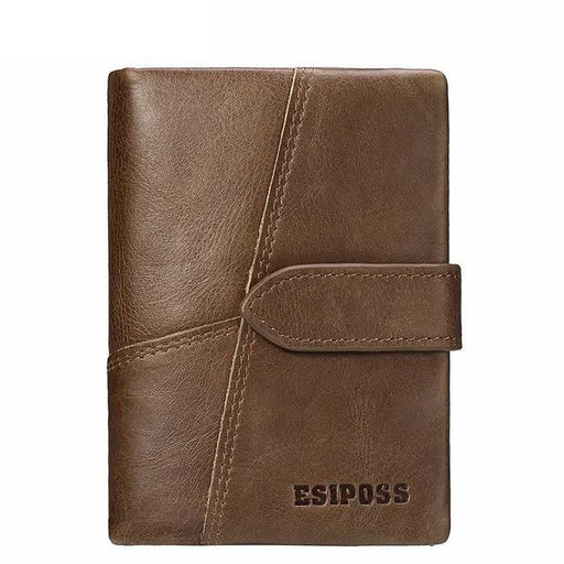 GZCZ Genuine Leather Retro Men Wallets High Quality Famous Brand Hasp Design Male Wallet Card Holder - SolaceConnect.com