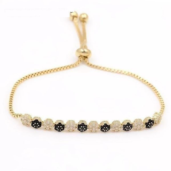 Assorted Colors Cubic Zirconia Crystal Small Flower Bracelet for Women - SolaceConnect.com