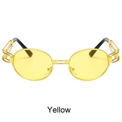 Vintage Steampunk Retro Hip Hop Gold Small Round Sunglasses Men & Women - SolaceConnect.com