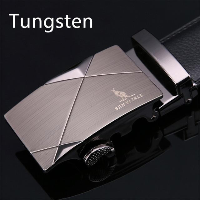 Fashion 100% Genuine Leather Men's Belts with Metal Automatic Buckles - SolaceConnect.com