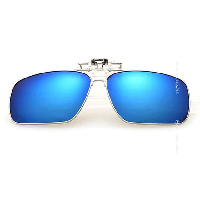 Wrap Over Clip On Flip Up Polarized Sunglasses with Eyewear Box - SolaceConnect.com