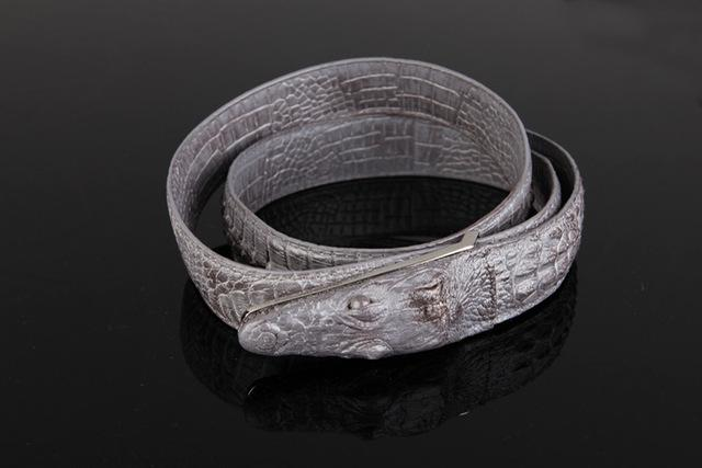 Men's Luxury Cow Leather Novelty Designer Style Animal Pattern Belt - SolaceConnect.com