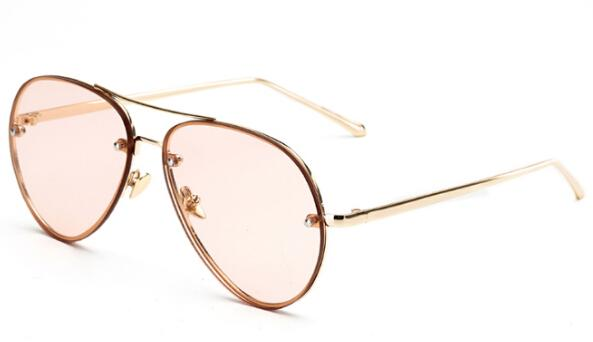Fashion Ocean Sunglasses with Yellow Pink Tinted UV400 Lens & Metal Frame - SolaceConnect.com