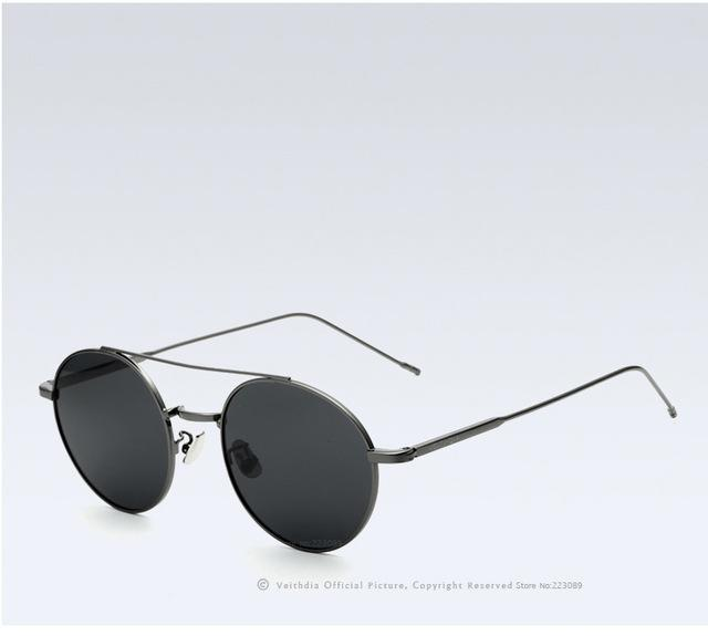 Round Polarized Coating Mirror Anti-Reflective Sunglasses for Men and Women - SolaceConnect.com