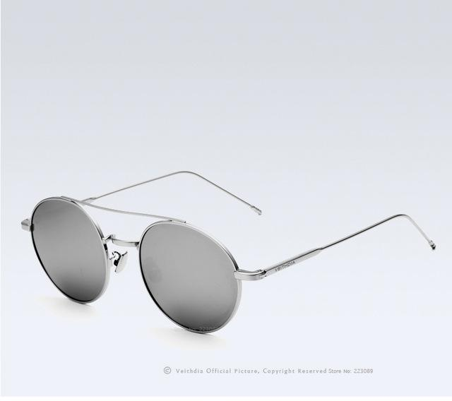 afd8101ed05 VEITHDIA Brand Designer Fashion Unisex Sun Glasses Polarized Coating Mirror  Sunglasses Round Male - SolaceConnect.