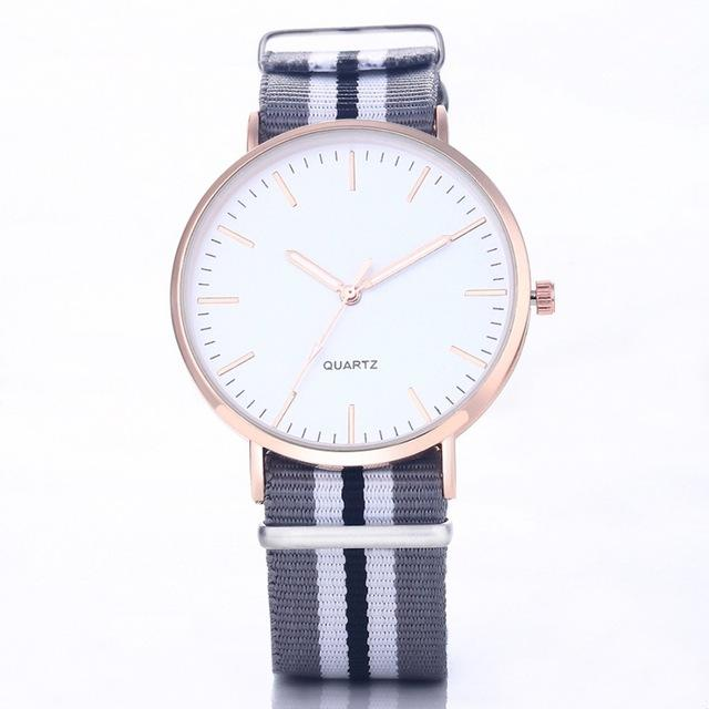 Hot Sale Ultra Thin Nylon Strap Casual Fashion Watch for Men - SolaceConnect.com