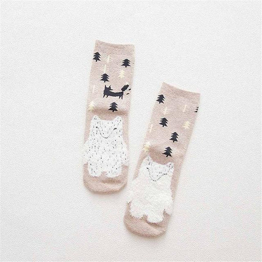 Warm Terry-Loop Cute Cartoon Socks for Autumn and Winter - SolaceConnect.com