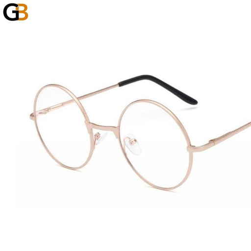 Retro Metal Frame Round Mirror Clear Lens Sunglasses for Women & Men - SolaceConnect.com