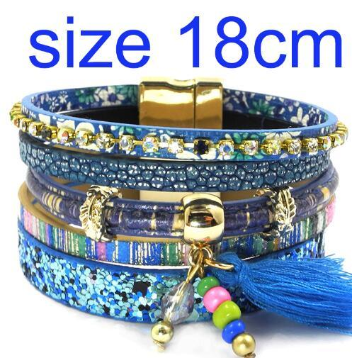 Leather Bohemian Bracelet 5 Color 3 Size Geometric Charm Bracelet for Women - SolaceConnect.com